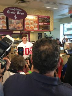 Eli and @Dunkin' Donuts!!!!