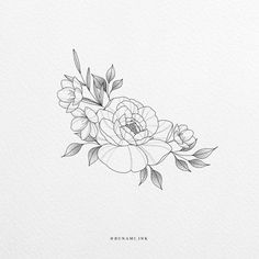 Jasmine Flower Tattoos, Peony Flower Tattoos, Flower Tattoo Drawings, Flower Tattoo Designs, Thigh Tattoo Designs, Pretty Tattoos, Cute Tattoos, Body Art Tattoos, Small Tattoos