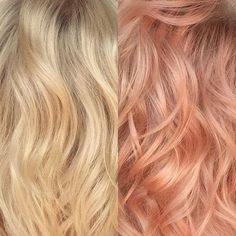 New hair color rose gold highlights strawberry blonde ideas Gold Hair Colors, Red Hair Color, Blonde Color, Color Red, Rose Gold Blonde, Blonde With Pink, Peach Hair, Pink Hair, Peach Rose