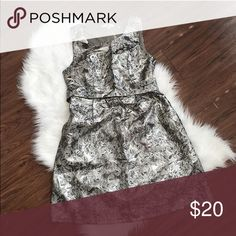 HOLIDAY COCKTAIL DRESS! 🌼 Cocktail/Holiday Dress (pair this with a great pair of opaque tights and black pumps!) 🎀INFO: • Brand: Boutique • Style: Cocktail • Color: Grey/Silver Metallic • Size: Small • Condition: Never Worn Dresses Mini