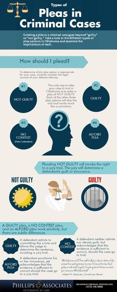 Infographic: Types of Pleas in Criminal Cases