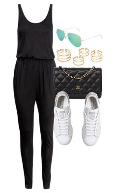 """Style #10460"" by vany-alvarado ❤ liked on Polyvore featuring H&M, Chanel, Topshop and adidas"