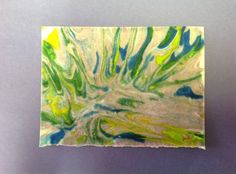 How to Marble Paper With Shaving Cream and Food Coloring