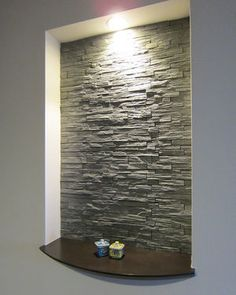 58 Trendy Home Sala Mirror Niche Design, Wall Design, Modern Stairs, Modern Wall, Japanese Modern House, Niche Decor, Muebles Living, Stair Lighting, Entry Way Design