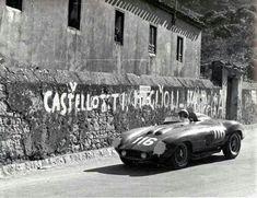 1955 Targa Florio : Eugenio Castellotti, Ferrari 857S #116 (#0570M, 3000cc), Scuderia Ferrari, 3rd (with Manzon). (ph: forum-auto.com)