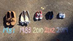 anuncia embarazo con zapatos y fecha