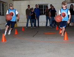 basketball party; fun game ideas - neat story about this family as well! Would like to read her book!