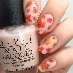 Amazing Fall Leafs nail art by @hanninator
