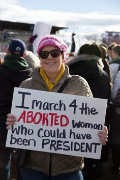 This is what real feminism looks like. Over 60,000 females are killed by other females through the barbaric practice of abortion. Equality begins in the womb.