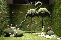 Vitrines Hermes - Paris, février 2012   gazon, pré summer