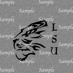 LSU Tiger Silhouette SVG, DXF, EPS, PNG Digital File – Wickedly Cute Designs