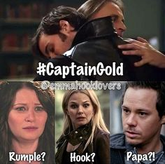 Haha their faces!! (Belle: Rumple?! Emma: Hook!? Neal: Papa?!? Me: *eats popcorn* this is beautiful, they're so perfect together!