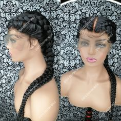 Custom made wig Full lace wig with light baby hair 24 inches long.
