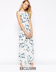 Frock and Frill | Frock and Frill All Over Floral Embroidered Embellished Maxi Dress at ASOS
