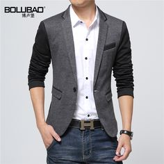 New Fashion Casual Men Blazer Cotton Slim Korea Style Suit Blaser Masculino Male Suits Jacket Blazer Men Plus Size M-6Xl