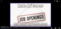 One of the top employment companies in India, Make My Career Professionals can help you find a best job with a top local employer……..