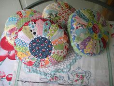 """Dresden pin cushions - very pretty and """"old"""" looking"""