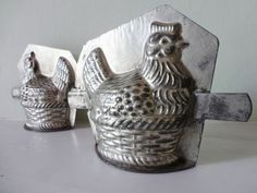 Vintage 1950s French Chocolate - Butter - Molds - Moulds Perfect for Homemade Chocolates, Butter - VINTAGE KITCHENALIA
