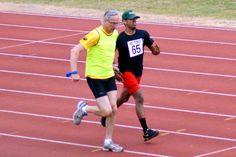 Athletics Open 2015 - Track event runner and Guide Runner - Photographer Christopher Minn