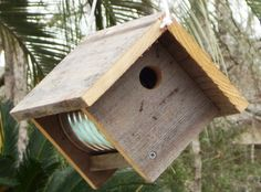 primitive bird houes | Primitive Rustic Coffee Can Birdhouse by PrimitiveWoodworks