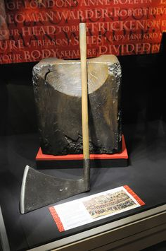 The bloody axe that was used to behead at the Tower of London.