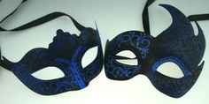 "His And Hers Masquerade Masks ""Night Of The Seventh Moon"""