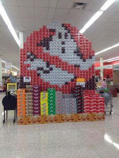 Ghostbusters coke products display in Sioux Falls.