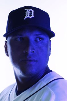 Victor Martinez Tigers   Victor Martinez Image was shot with a colored gel on lights) Victor ...