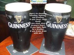 An Irish toast. St. Patricks Day is coming soon.