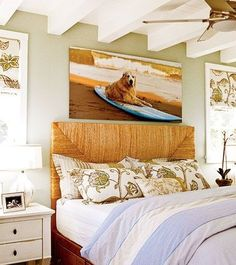beach themed bedroom decor - home interior Coastal Bedrooms, Coastal Homes, Coastal Living, Coastal Decor, Beach Bedrooms, Modern Coastal, Coastal Style, Coastal Industrial, Coastal Farmhouse