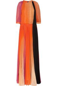 Sonia Rykiel Pleated silk-chiffon gown