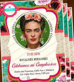 Invitaciones Imprimibles Frida Kahlo, para cumpleaños, despedida de soltera, etc. disponible para su descarga digital Inmediata! Descarga el diseño, edita los datos de tu evento en Power Point e Imprime todas las invitaciones que necesites en la comodidad de tu hogar, taller u oficina en cualquier impresora hogareña o centro de impresion mas cercano.