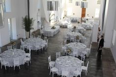 Comedor preparado para boda en La Casona de las Fraguas  #bodas #banquetesbodas