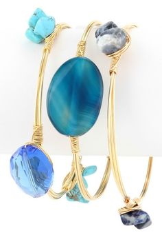 Zalia Bangle Set - Blue