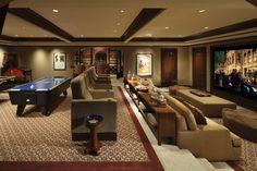 Luxury rec room with home theater.  #gameroom #hometheater homechanneltv.com