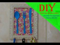 DIY: Porta Chaves e Porta Recados para a Cozinha - YouTube