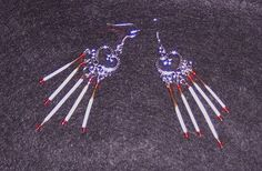 Earrings / Chandelier Porcupine quill and by HandCraftedMinds