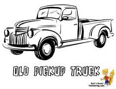 Classic Pickup Trucks, Old Pickup Trucks, Farm Trucks, Lifted Trucks, Chevy Trucks, Truck Coloring Pages, Coloring Sheets, Coloring Books, Free Coloring