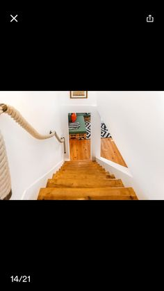 Rope railing for steep stairs