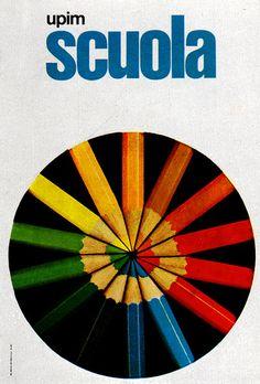 Designed by La Rinascente-Upim, 1969 1960s Advertising, Advertising Poster, Vintage Advertisements, Graphic Prints, Poster Prints, Graphic Design, Posters, Original Vintage, Coloured Pencils