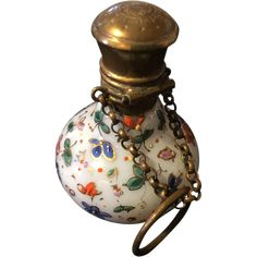 Antique Perfume Bottle With Finger Ring