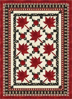 Maple Leaf Parade - Throw Size Quilt Kit