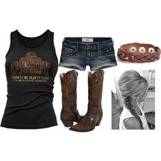 """""""Rockin on a Summer Saturday"""" ~~country fashion~~ Country Girls Outfits, Country Girl Style, Country Fashion, Girl Outfits, Summer Outfits, Cute Outfits, Fashion Outfits, Country Jam, Town And Country"""
