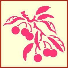 cherry stencil, cherries http://www.theartfulstencil.com/cherry-tile-1.html