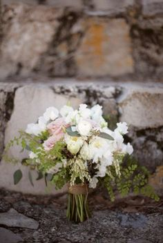 Beautiful bouquet...maybe it is the red head in me, but I love everything about this wedding