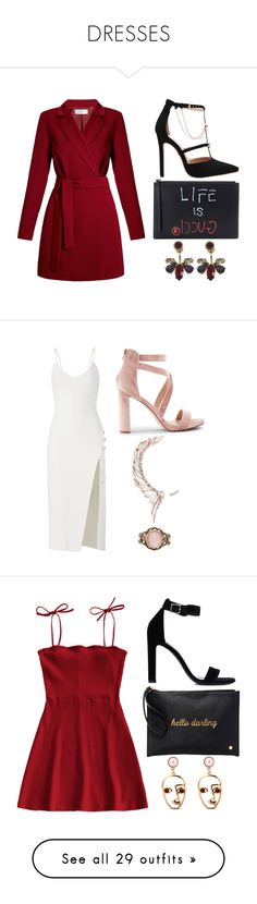 """""""DRESSES"""" by noellescholte ❤ liked on Polyvore featuring Undress, Gucci, Marchesa, David Koma, New Look, Cristina Ortiz, Forever 21, Yves Saint Laurent, Deux Lux and WithChic"""