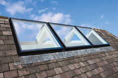 The Ridgelight: Self-supporting Rooflights – No Need For a Ridge Bungalow Extensions, House Extensions, Loft Design, House Design, Ridge Roof, Skylight Design, Attic Bedroom Designs, Loft Plan, Innovative Architecture