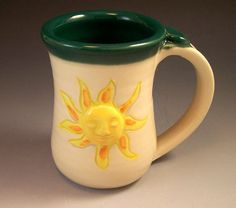 Pottery Sunshine Mug/ Pottery Sunshine by AnneMariesPottery