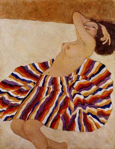 (Egon Schiele) E' la pittrice cinese Xi Pan.
