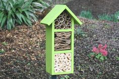 Bee and Insect Hotel three tier in 'Wild Thyme' by Wudwerx on Etsy Organic Gardening, Gardening Tips, Bug Hotel, Mason Bees, Bee House, Garden Structures, Bee Keeping, Bird Houses, Outdoor Gardens